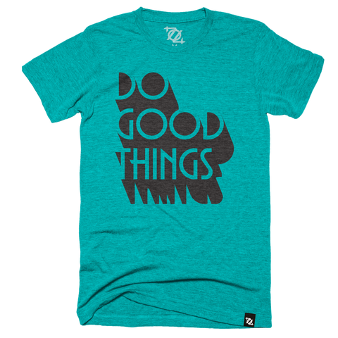 704 Shop + Giving Tuesday CLT - Do Good Things Tee - Teal (Unisex)
