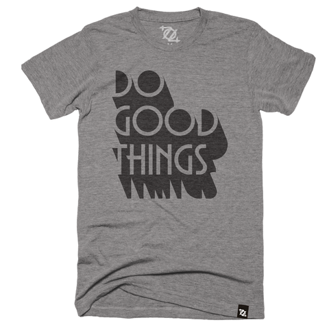 704 Shop + Giving Tuesday CLT - Do Good Things Tee - Gray (Unisex)