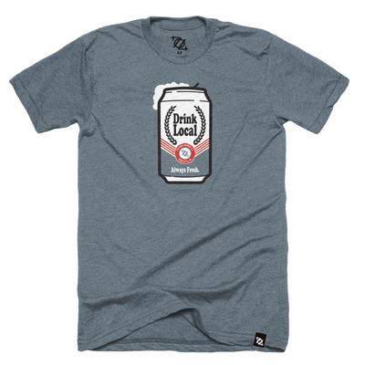 704 Shop Drink Local Beer - Heather Slate (unisex)