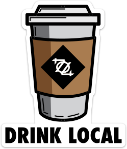 704 Shop Sticker - Drink Local Coffee