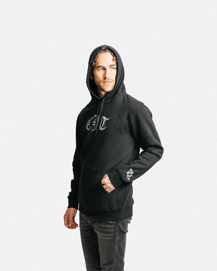 704 Shop CLT Gothic Hoodie - Black/Gray (Unisex) *Black Friday Exclusive*