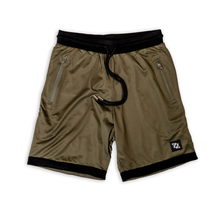 704 Shop Essential Gym Shorts - Olive/Black