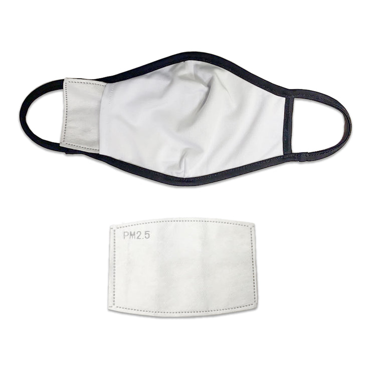 704 Shop CLT Face Mask - Black/White