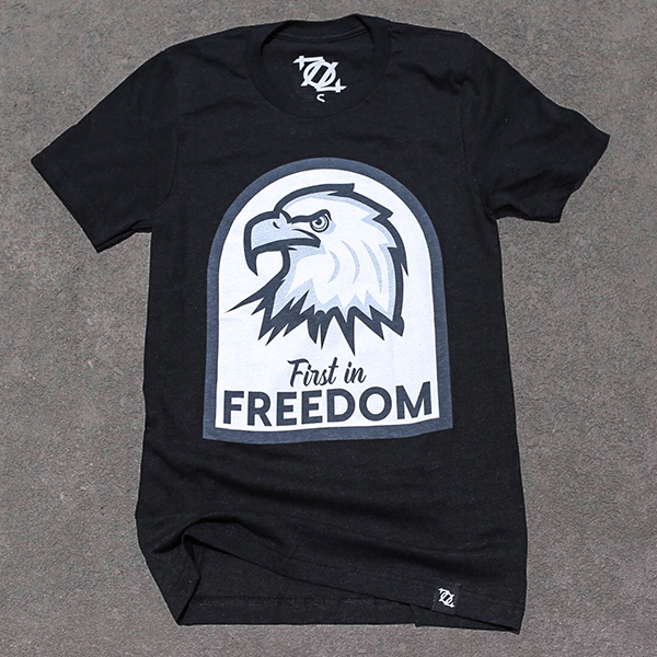 704 Shop First in Freedom Tee - Black Heather (Unisex)