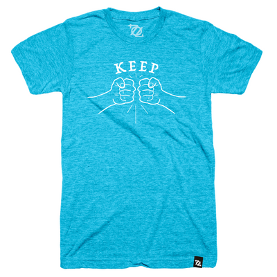 704 Shop Fist Pound Tee - Blue (Unisex)