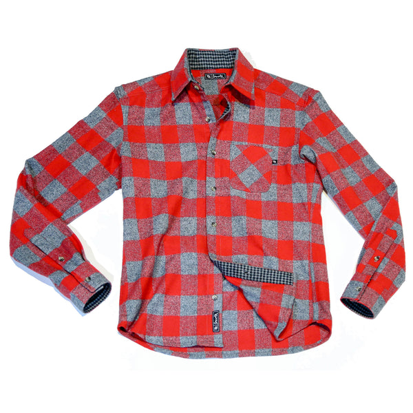 704 Shop Cut & Sew Series - Red/Gray Flannel