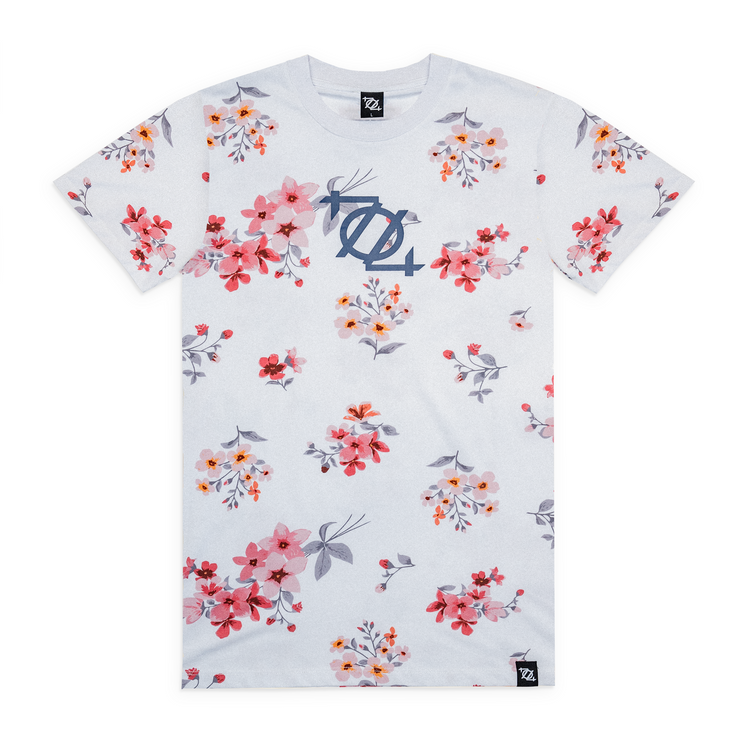 704 Shop Process™ Floral Logo Tee - White/Multi (Unisex)