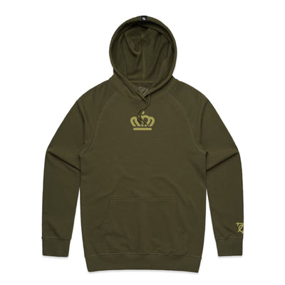 704 Shop x City of Charlotte - Official Crown French Terry Hoodie - Olive (Unisex)