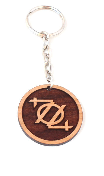 704 Shop Key Chain - Wood