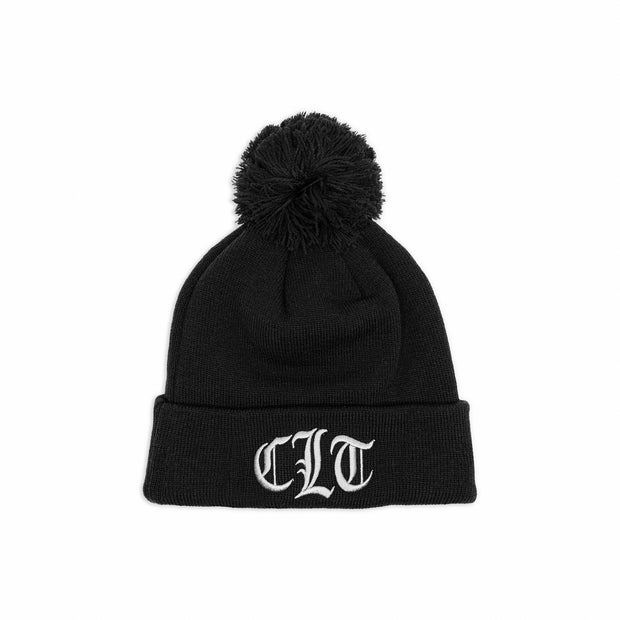 704 Shop x New Era CLT Gothic Pom Beanie - Black/Gray (Unisex)
