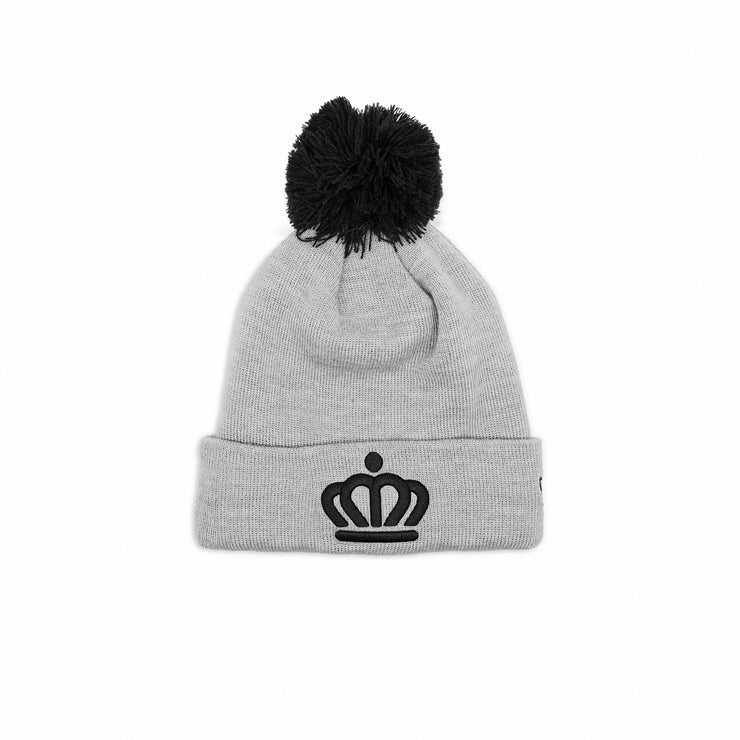 704 Shop x New Era x City of Charlotte Official Crown Pom Beanie - Heather Gray/Black(Unisex)