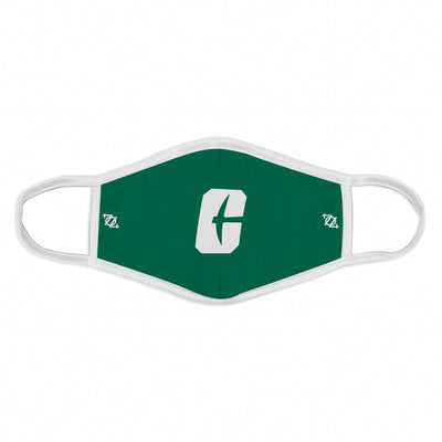 "704 Shop x Charlotte 49ers - ""All In C"" Logo Mask - Green/White"