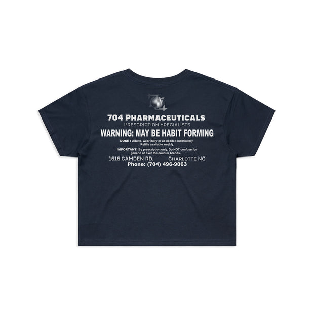 704 Shop Habit Forming Crop Tee - Navy (Women's)