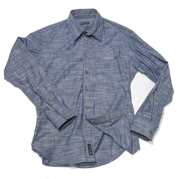 704 Shop Cut & Sew Series - Heather Chambray Button Up