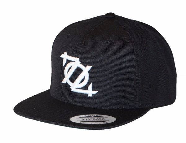 704 Shop SnapBack Hat - Black/White