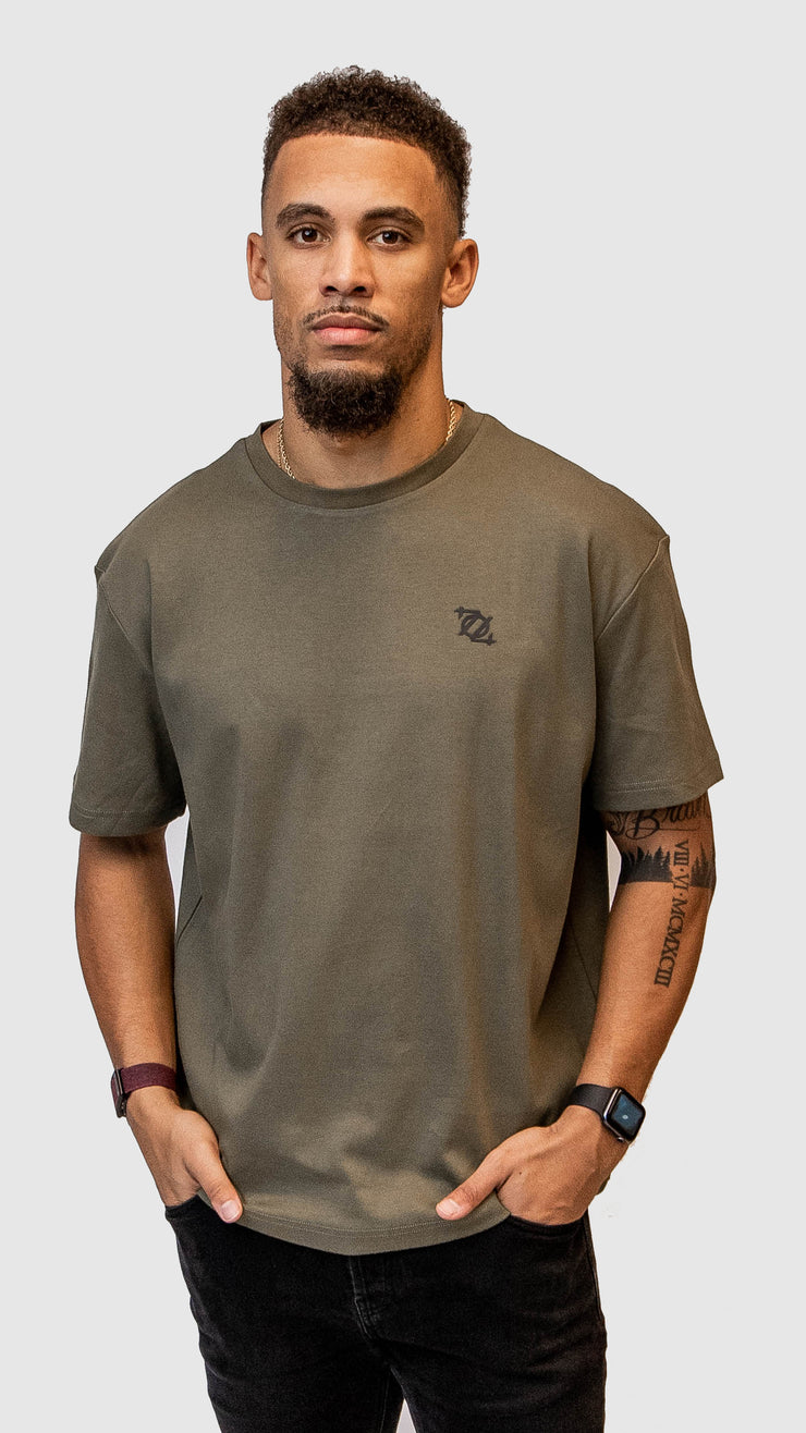 704 Shop Essential Logo Tee - Olive