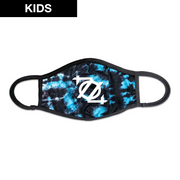 (Kids) 704 Shop 704 Logo Face Mask - Tie Dye Blue/Black/White