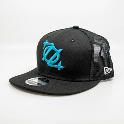 704 Shop x New Era - 704 Logo 950 Trucker Hat - Black/Blue