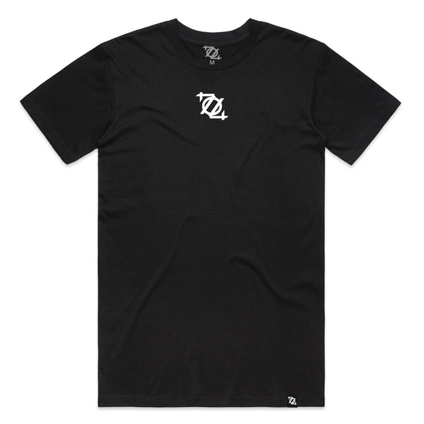 704 Shop Micro Logo Tee - Black/White (Unisex)