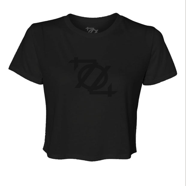 704 Shop 704 Logo Crop Top - Blackout (Black Friday Limited Edition)
