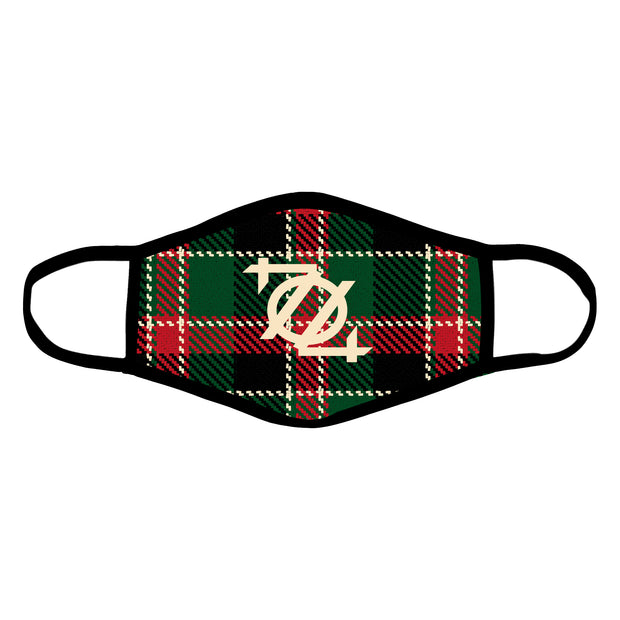 704 Shop 704 Logo Christmas Plaid Mask