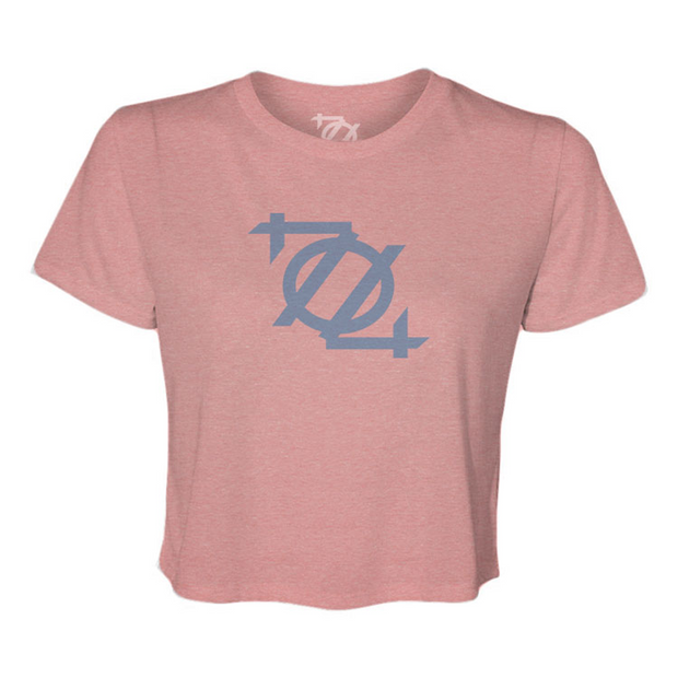 704 Shop 704 Logo Crop Tee - Pink/Columbia (Women's)