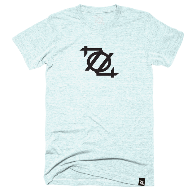 704 Shop Logo Tee - Ice Blue/Black (Unisex)