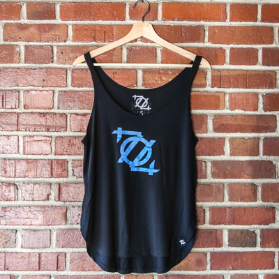 * 704 Shop Logo Tank - Black/Teal (Women's) *