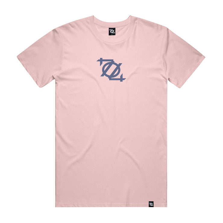 704 Shop Process™ Logo Tee - Lotus/Infinity Blue (Unisex)