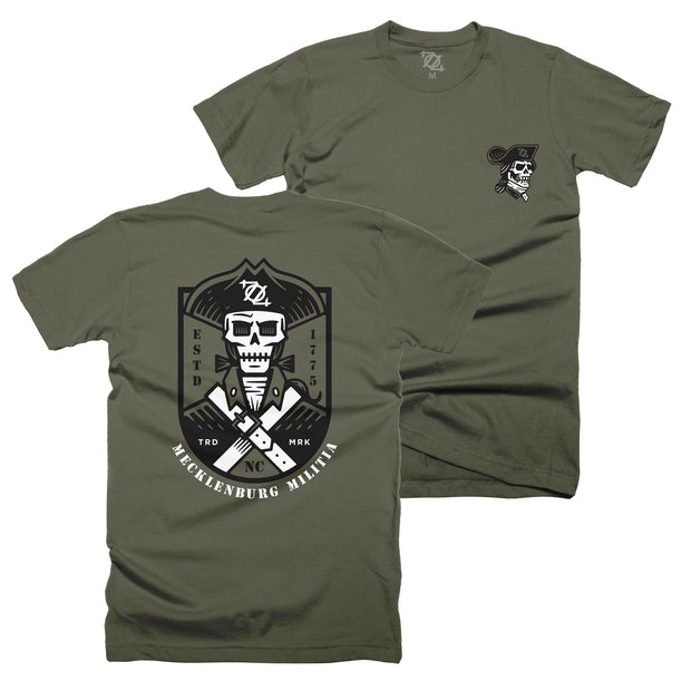 704 Shop Mecklenburg Militia Tee - Military Green (Unisex)