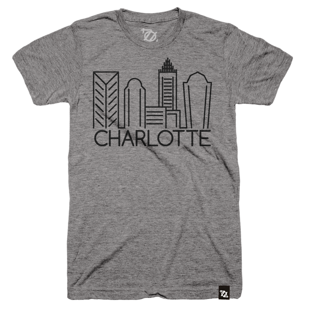 704 Shop Minimal Skyline Tee - Gray (Unisex)