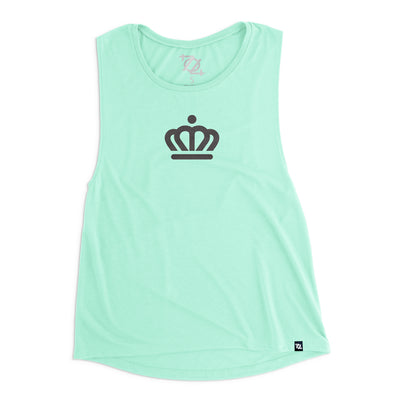 704 Shop x City of Charlotte Official Crown Muscle Tank - Mint/Black (Women's)