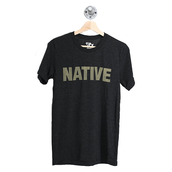 704 Shop Native Tee - Black/Charcoal (Unisex)