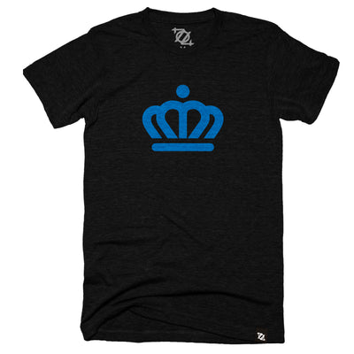 704 Shop x City of Charlotte Official Crown Tee - Black/Blue (Unisex)