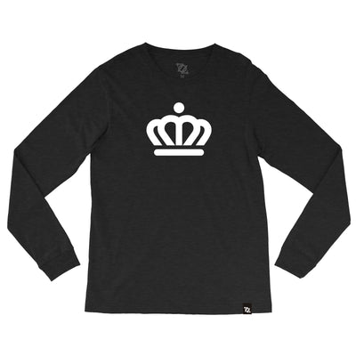704 Shop x City of Charlotte Official Crown Longsleeve Tee - Black/White (Unisex)