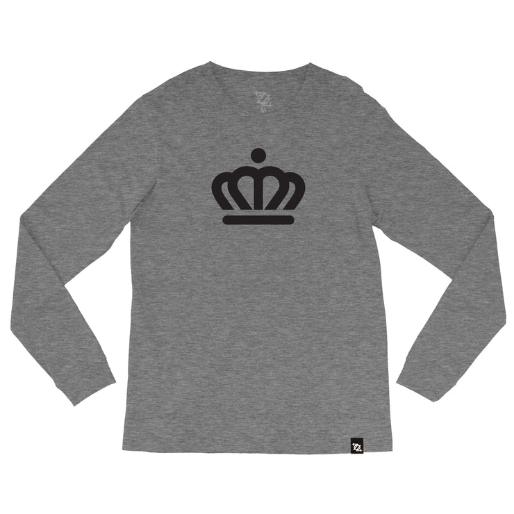 704 Shop x City of Charlotte Official Crown Longsleeve Tee - Gray/Black (Unisex)