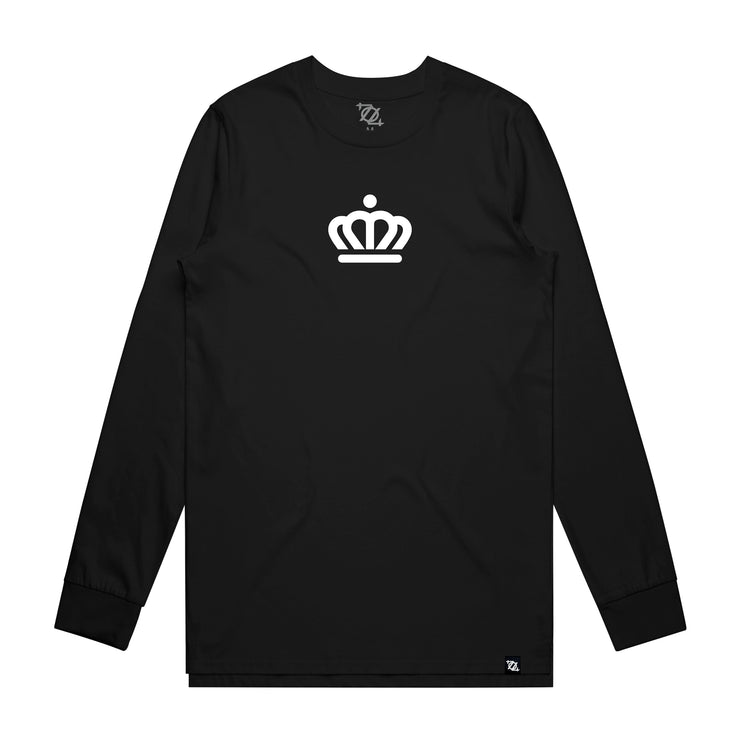 704 Shop x City of Charlotte - Official Crown Long Sleeve Tee - Black/White (Unisex)