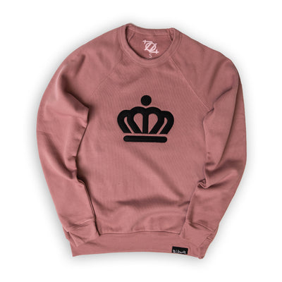 704 Shop x City of Charlotte Official Crown Premium Applique Crew Neck Sweatshirt - Mauve (Unisex)