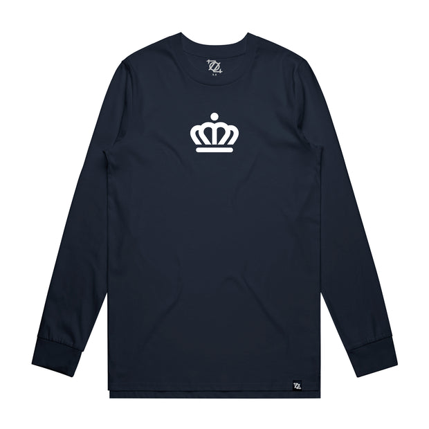 704 Shop x City of Charlotte Official Crown Long Sleeve - Navy/White (Unisex)