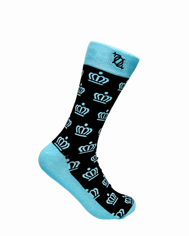 704 Shop Fashion Sock - Official Crown (Black/Mint)