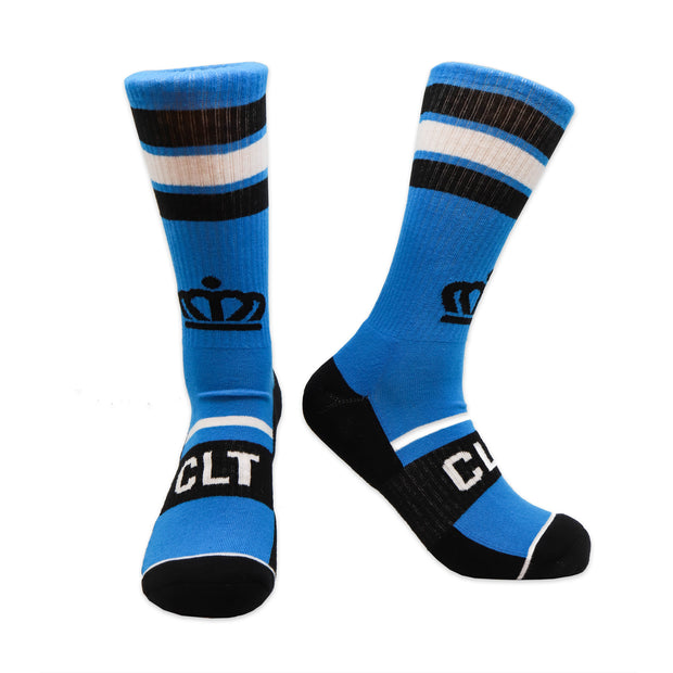 704 Shop Official Crown Sport Sock Blue/Black/White