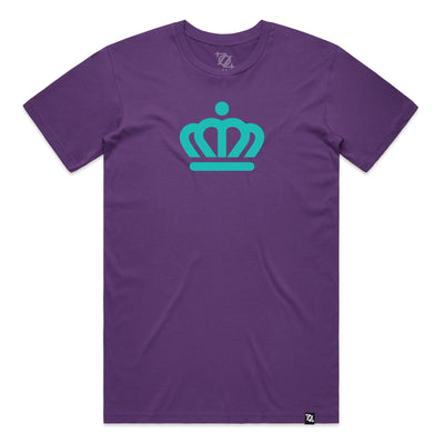704 Shop x City of Charlotte - Official Crown Tee - Purple/Teal (Unisex)