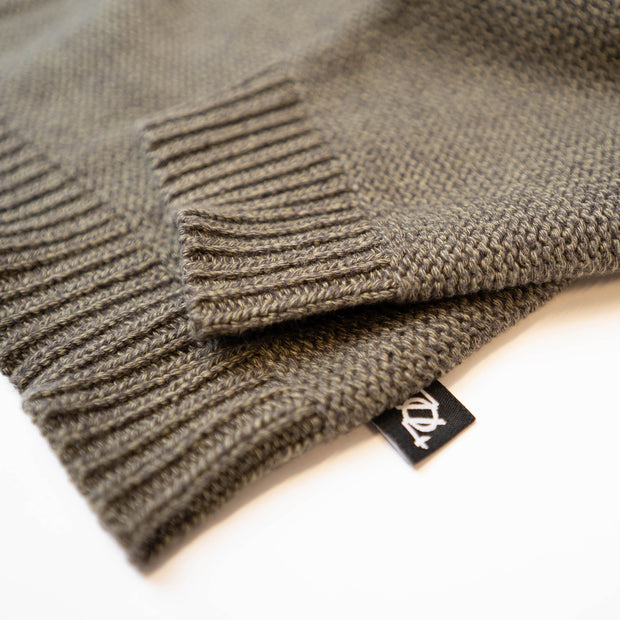 704 Shop Essential Mixed Yarn Sweater - Olive