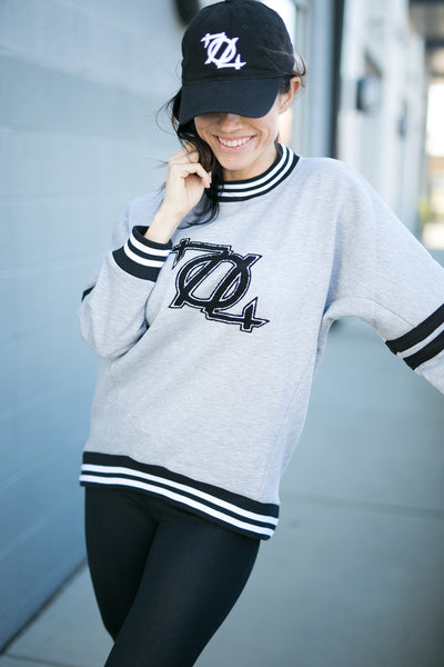 704 Shop Oversized Jersey Logo Sweatshirt (Cut & Sew Series)(Women's)
