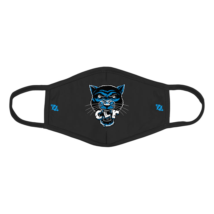 704 Shop CLT Panther Face Mask - Black/Blue/White