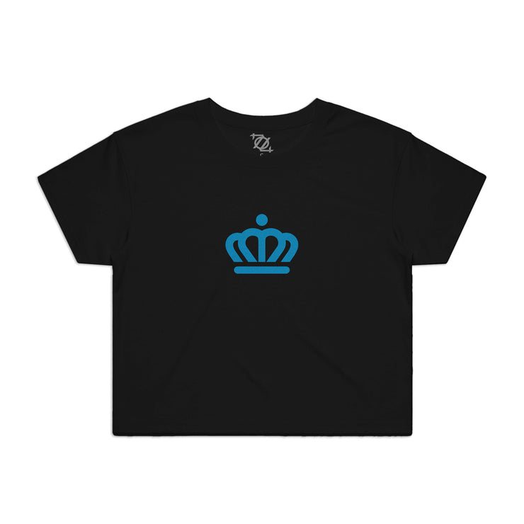 704 Shop x City of Charlotte Official Crown Crop Top - Black/ Blue (Women's)