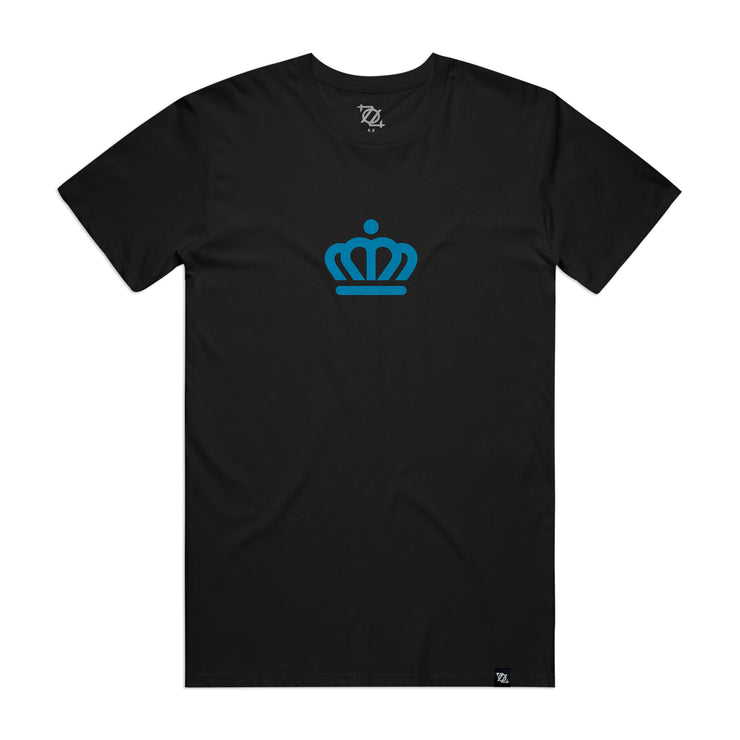 704 Shop x City of Charlotte - Official Crown Tee - Black/Blue (Unisex)