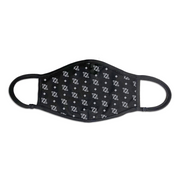 704 Shop Logo Pattern Face Mask - Black/Gray