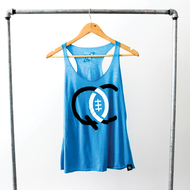 704 Shop QC Football Tank (Women's)