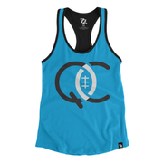 704 Shop QC Football Two-Tone Racer Back Tank (Women's)